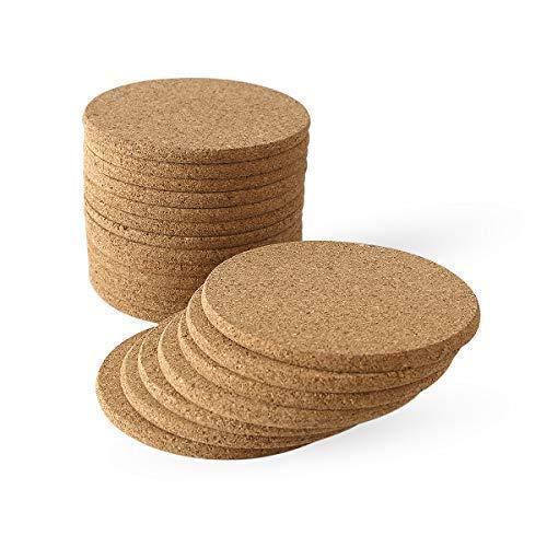 Compra Posavasos de corcho natural de 6 mm de grosor, resistentes ...