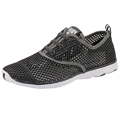 Aleader Mens Quick Drying Aqua Water Shoes DarkGray 8 D(M) US