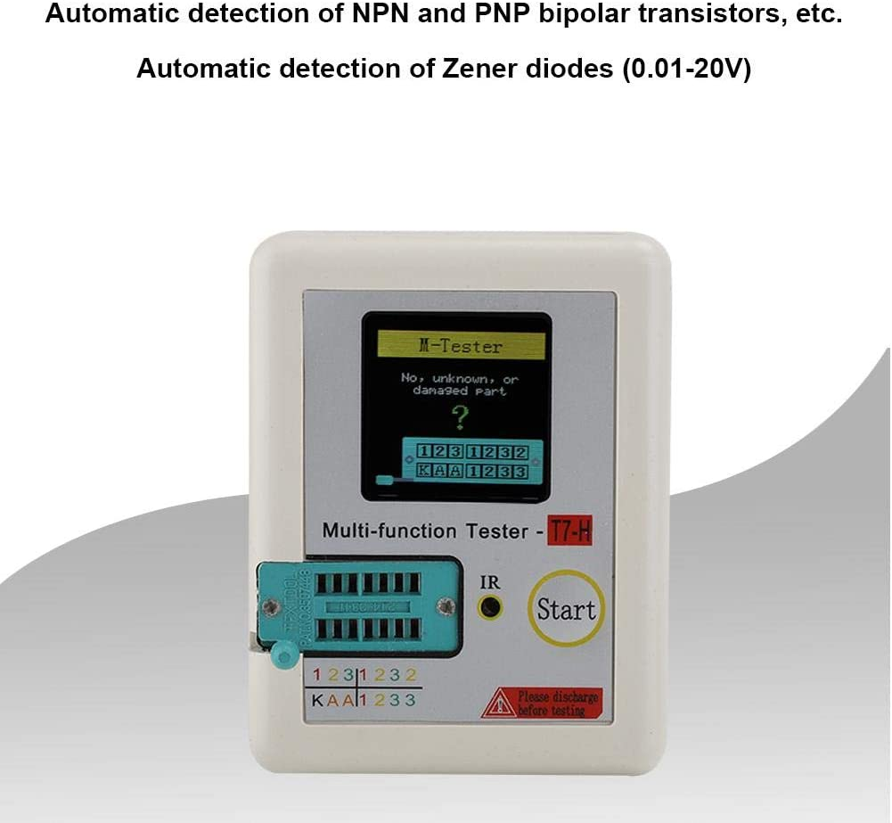 Zopsc Infrared Decoder Automatic Detection Transistor Tester Built-in Rechargeable Lithium-ion Battery
