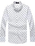 SSLR Men's Cotton Anchor Printing Long Sleeve Shirts
