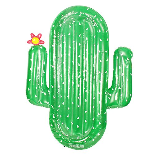 Elleddy 2017 Summer Water Sport Buoy Giant Inflatable Cactus Floating Row Swim Rings