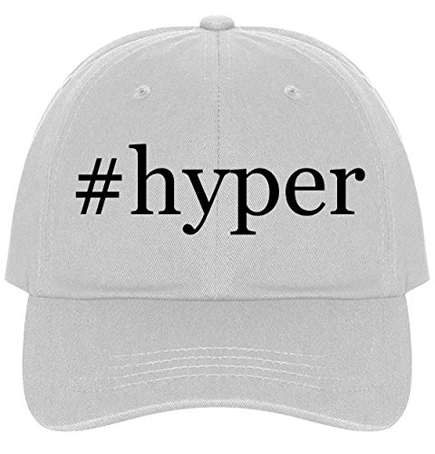 The Town Butler #Hyper - A Nice Comfortable Adjustable Hashtag Dad Hat Cap, White, One Size