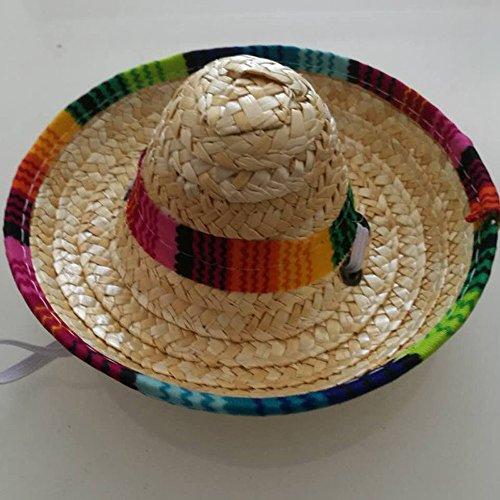 Pet Cat Dog Fashion Mexican Straw Sombrero Hat Pet Adjustable Buckle  Costume (A)   Pet Supplies fe3fa29652e8