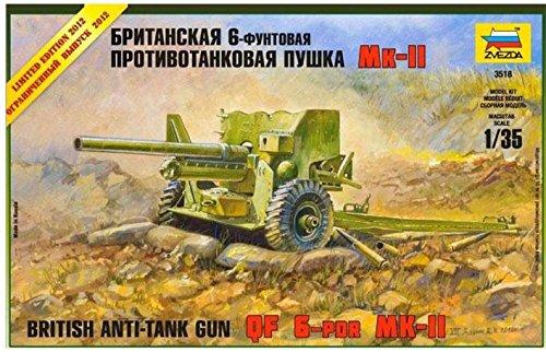 British anti-tank gun QF 6-PDR MK-II WWII 1/35 Zvezda 3518