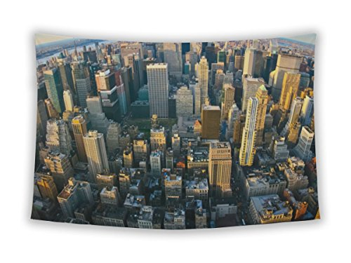 Gear New Wall Tapestry For Bedroom Hanging Art Decor College Dorm Bohemian, Central Park Fisheye Aerial Panoramic View Over New York, - Park Bryant 42nd
