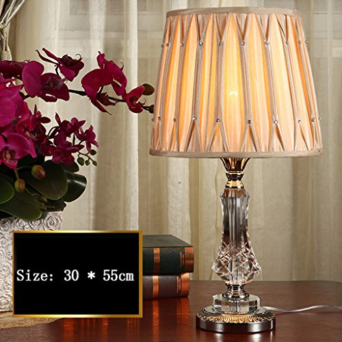 Edge To Table Lamp Crystal Table Lamp Luxury Warm Simple Modern Nordic Bedroom Bedside Lamp by Edge To (Image #5)