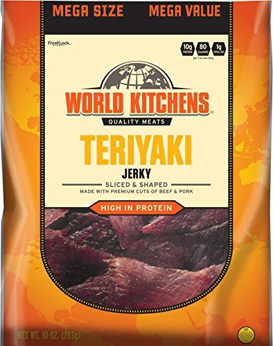 World Kitchens Jerky, Teriyaki, 10 Ounce