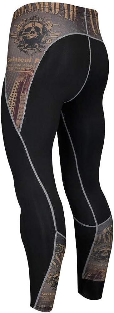FRAUIT Leggings Uomo Rapida Pantaloni Shirt Tuta Tight Pantacollant da Allenamento per Palestra Yoga e Stretch Pants Elastico Fitness Pantaloni Jogging Sportivi Workout Athletic