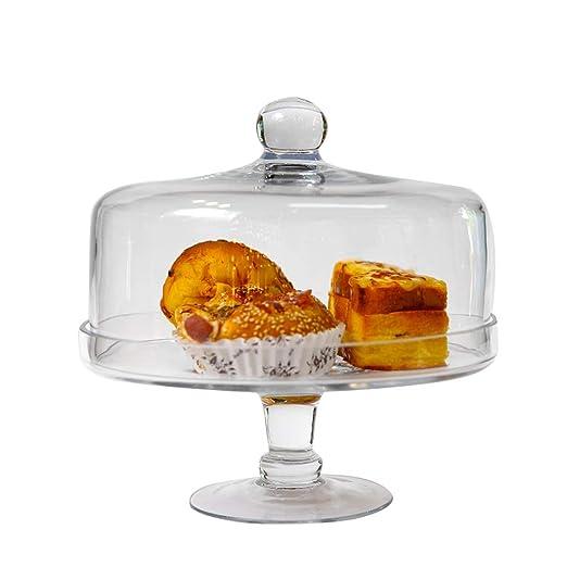Soporte de la torta Cubierta de Vidrio Transparente Pastel ...