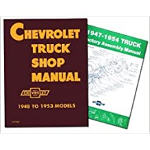 CHEVROLET TRUCK REPAIR SHOP & SERVICE MANUAL & FACTORY ASSEMBLY MANUAL SET. 1947 1948 1949 1950 1951 1952 1953 1954. Sedan Delivery; Light Duty ½ ton Truck; ¾ ton & 1 ton Medium Duty Truck and 1-½ ton & 2 ton CHEVY TRUCK