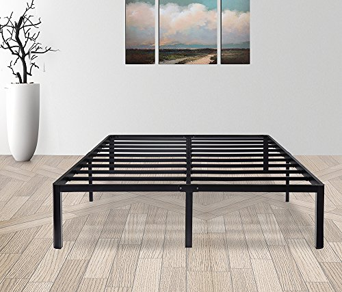 Olee Sleep 14 Inch Tall T 2000 Round Edge Steel Slat   Non Slip Support Bed Frame 14Bf08f