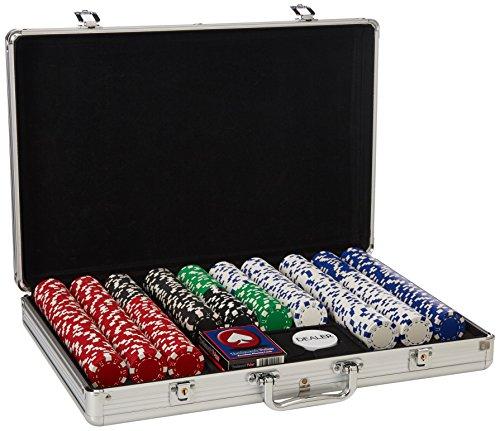 650sdx 650 Chip - Trademark 650 11.5-Gram Dice-Striped Poker Chips in Aluminum Case