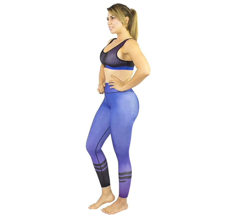 Purple Pant Women's Outfit Set Yoga Running Gym Cycling Activewear Workout Sports