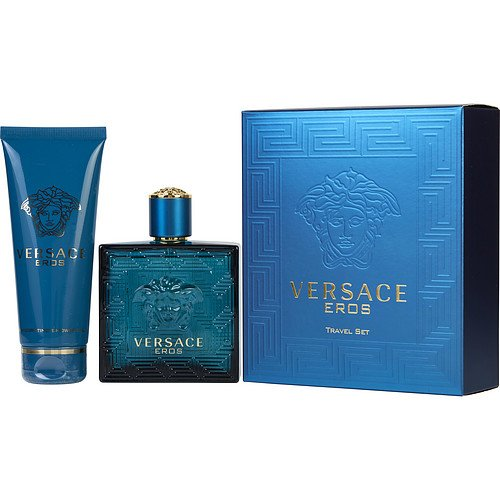 VERSACE EROS by Gianni Versace EDT SPRAY 3.4 OZ & SHOWER GEL 3.4 OZ (TRAVEL OFFER) for MEN ---(Package Of 5) by Versace