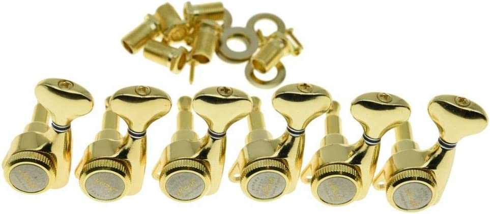KAISH 18:1 Gear Ratio Guitar Locking Tuners Machine Heads Guitar Locking Tuning Keys Pegs for Strat//Tele//LP//SG most Electric or Acoustic Guitars Gold