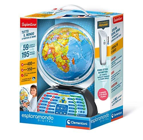 Clementoni Globo Educativo Interactivo Digital para niños, 7 años, 12097