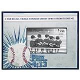 Baseball 4 x 6 Wooden Photo Frame - Philippians 4:13