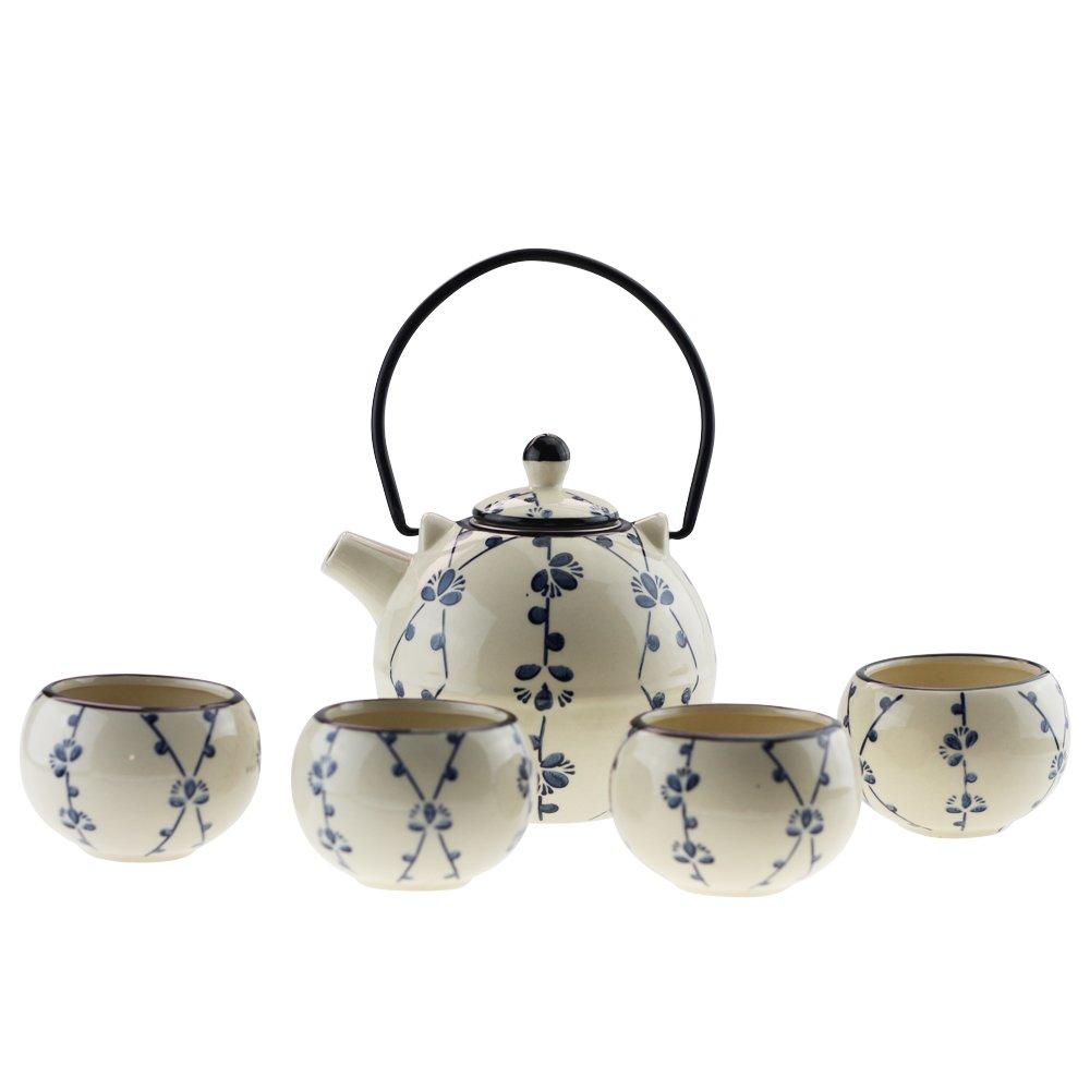 Ceramic Craftmanship Tea Pot and Cups Set Serves 4 Japanese Tea Set Ashbur