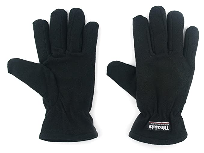 Outray Women's Polyester Fleece Keep Warm Gloves 4422C1 Black
