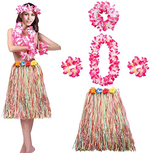 Hula Dancer Costumes - Hawaiian Hula Dancer Grass Skirt Faux
