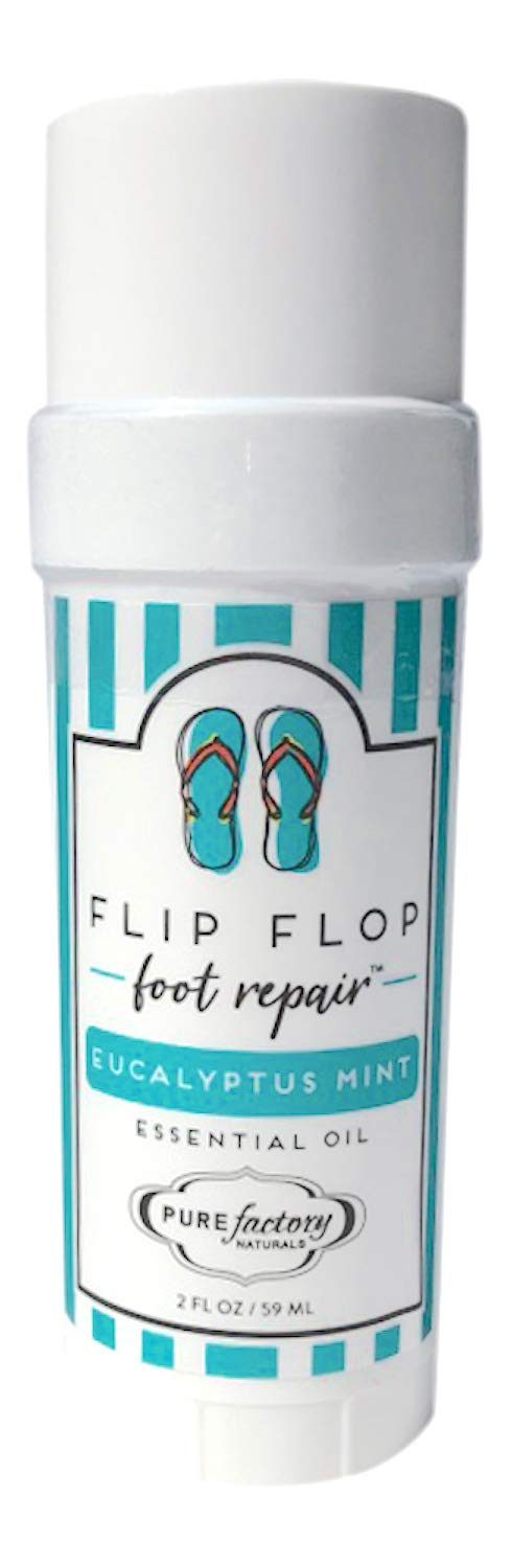 Foot Balm Moisturizer For Rough Heels & Dry, Cracked Feet Get Your Feet Ready for Summer With Our Eucalyptus Mint Flip Flop Foot Repair