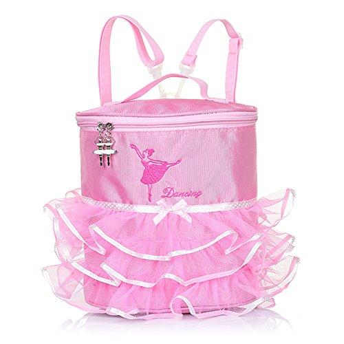 Luerme Girls Tutu Backpack Kids Shoulder Bag School Bag Ballerina Ballet Tutu Barbie Dress Dance Bag Handy Pouch For Children Girls (Plastic Buckle) ()