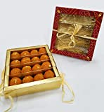 Sukhadia's Motichoor Ladoo Indian Sweet, Fancy Bandhani Box (20oz)