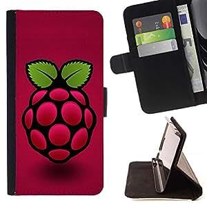 For Apple (5.5 inches!!!) iPhone 6+ Plus / 6S+ Plus Case , Frambuesa- la tarjeta de Crédito Slots PU Funda de cuero Monedero caso cubierta de piel
