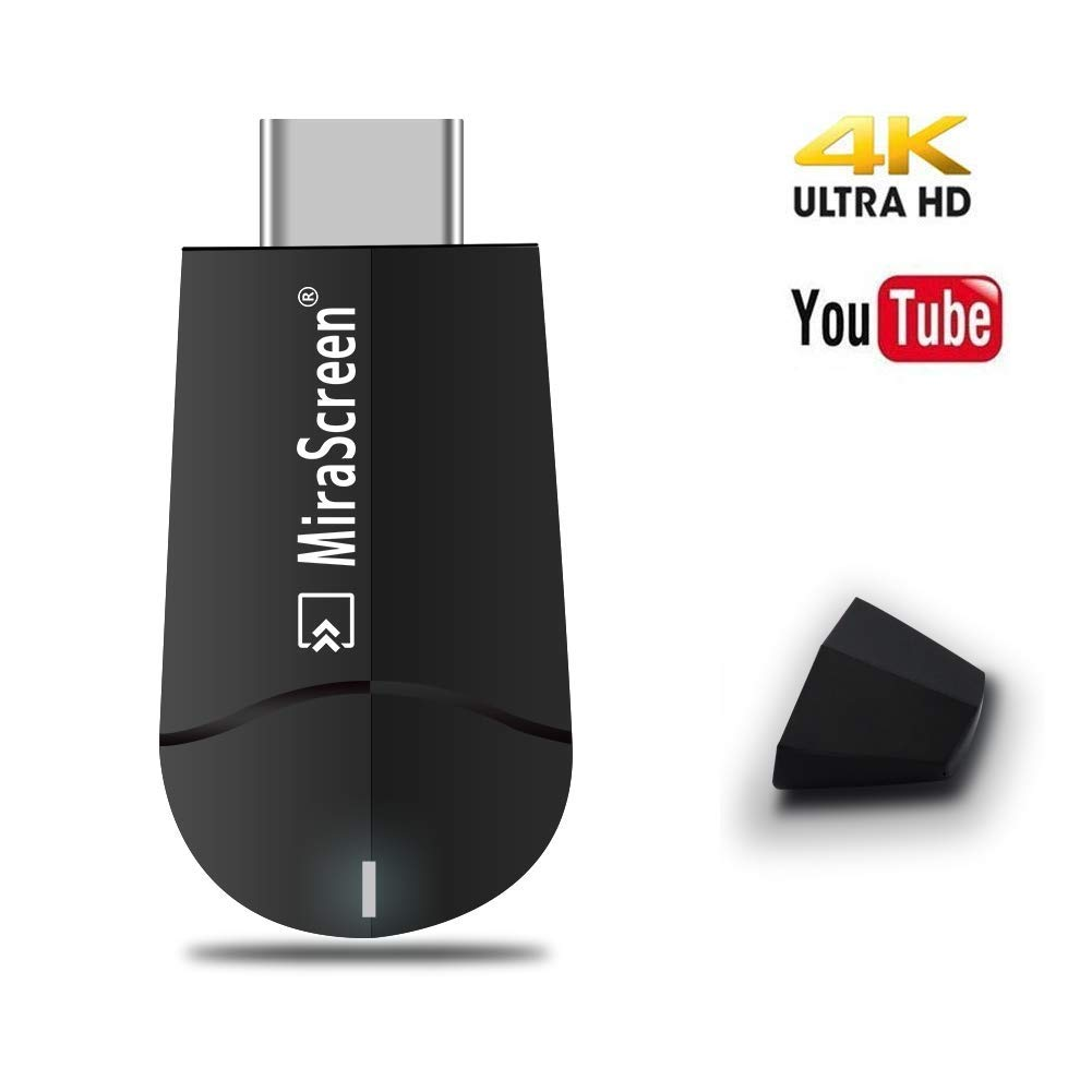 Mirascreen Wireless Display Adapter, SmartSee WiFi HDMI Converter Dual Core H.265/HEVC Decode HD TV Stick Support 4K Miracast Airplay DLNA No Need Modes Switching