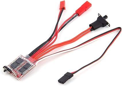 RC ESC Brush Motor Controller With Brake For Forward Reverse Brake