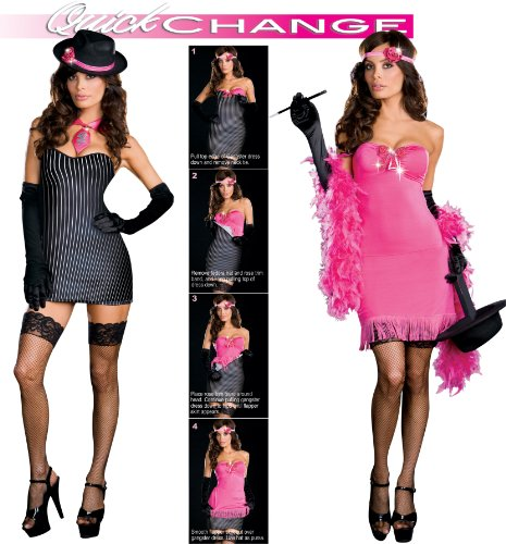 From Gangster To Gorgeous Costume - Large - Dress Size 10-14