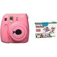 Fujifilm Instax Mini 9 Instant Camera (Flamingo Pink) with Film (20 Shots)