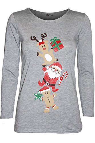 f55cddf8cf8 Be Jealous Womens Christmas Long Sleeve Gingerbread Climb Gift ...