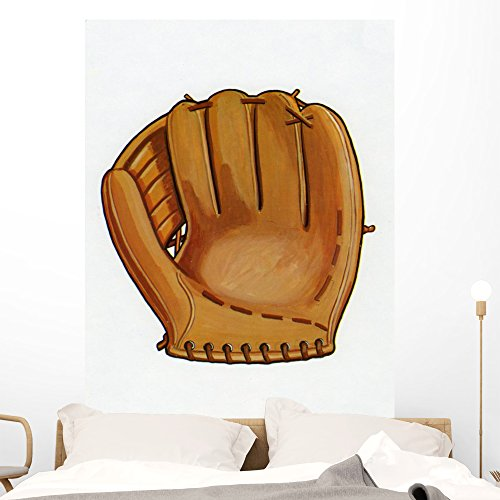 Baseball Illustrations (Wallmonkeys 1960s Illustration of a Baseball Glove Wall Decal Peel and Stick Graphic WM93425 (48 in H x 37 in W))