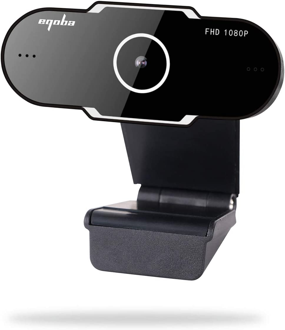 Eqoba Webcam Full HD 1080p USB 2.0, com Microfone Embutido