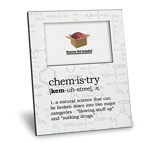 Chemistry Definition Picture Frame - Personalization Available - 8x10 Frame - 4x6 Picture - Gloss White Finish