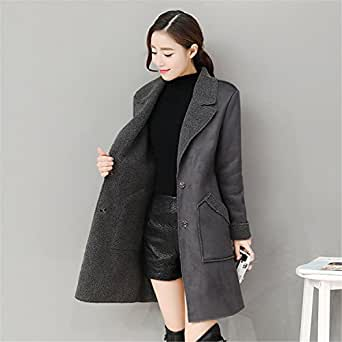 YHQYZZ Women Coats New Spring Autumn Long Coats and Jackets Outerwear Female Overcoat Trench Coats Plus Size 3XL Dark Grey XXL