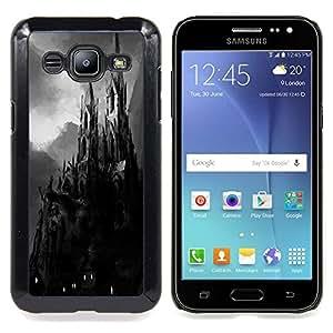 Stuss Case / Funda Carcasa protectora - Drácula de Transilvania Pintura Negro - Samsung Galaxy J2 / J200