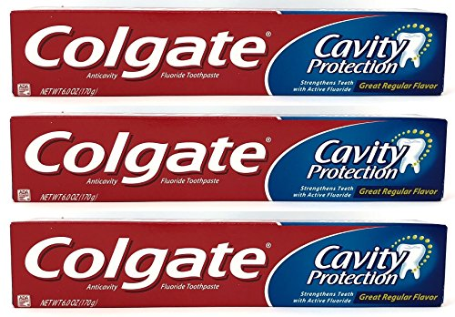 Colgate Cavity Protection Fluoride Toothpaste, Regular Flavo