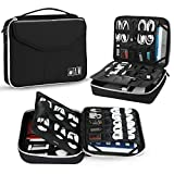 Electronic Organizer, Jelly Comb Travel Organizer Bag Electronic Accessory Cases Cable Organizer Bag Double Layer for USB Cables, Charger, Power Bank, Phone, E-book Kindle, iPad or Tablet(up to 9.7  )