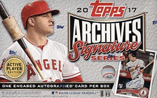2017 Topps Archives Signature Series Baseball Box