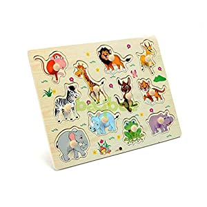 Baybee Wooden Wild Animals Puzzle...