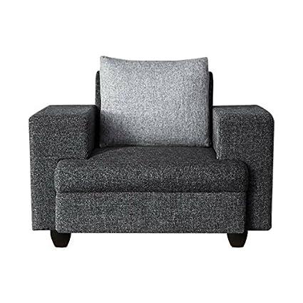 Sofas Jute Fabric 1 Seater Sofa Dark Grey Light Grey Imperial Amazon In Home Kitchen
