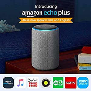 All-new Echo Plus (2nd gen) - Premium sound with a built-in smart home hub-Grey