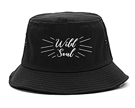 3d6f7f815e3 Amazon.com  Wild Soul Quote Bucket Hat Black  Clothing