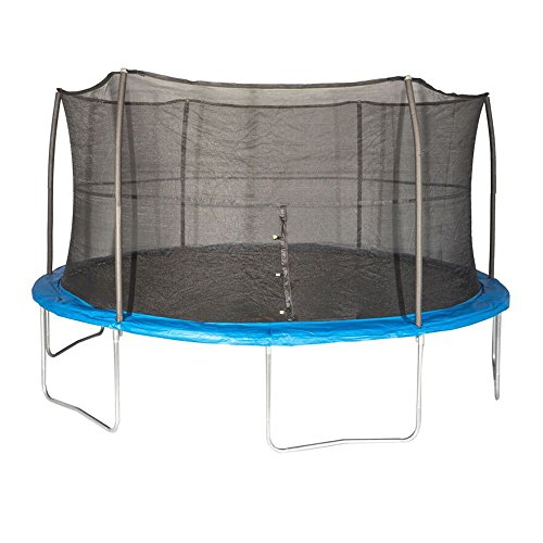 JumpKing 15 Foot Outdoor Trampoline & Safety Net Enclosure Kit, Blue | JK15VC2 by JumpKing