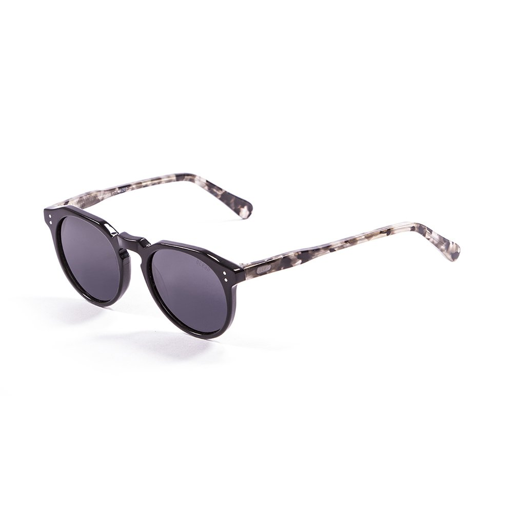 Ocean Sunglasses Cyclops Lunettes de Soleil Mixte Adulte, Shiny Black/Demy Brown/Smoke Lens