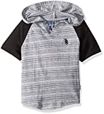 English Laundry Little Boys' Hooded Short Sleeve T-Shirt (More Styles Available), HX88-Black and White, 5/6