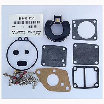 Tohatsu Outboard 5B 8B 9.8 Carburetor Repair Kit W//O Float Replaces 369871221M