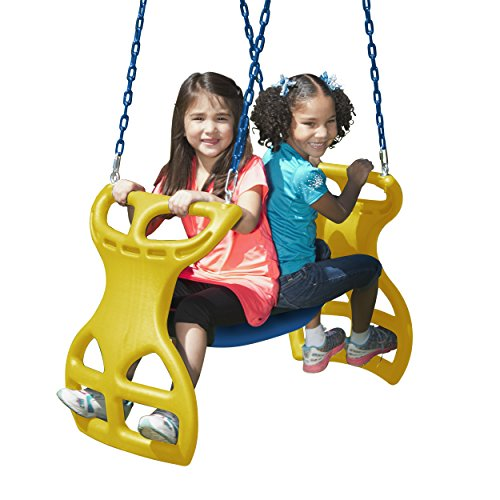 Swing-N-Slide WS 3440 Multi-Child Swing Set Glider, Blue/Yellow
